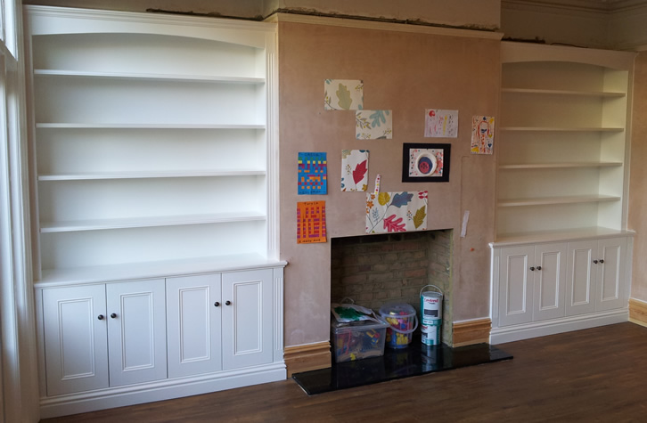 Alcove cabinets bespoke furniture fitters surrey for Cupboards and cabinets